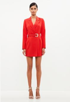 peace--love-red-belted-blazer-dress
